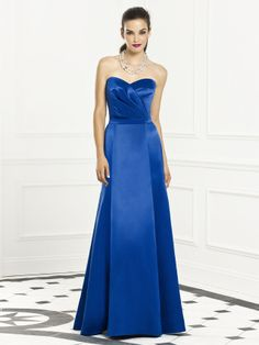 Let the wedding bells chime as your beautiful wedding includes the gorgeous matte satin floor length gown known as Dessy's After Six 6654 Bridesmaid dress. The ruched surplice strapless bodice is charming and the trumpet skirt sounds out the romantic song of the day. #timelesstreasure