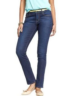 Womens Classic Straight-Leg Jeans