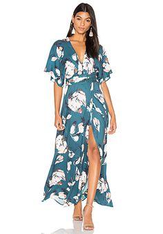 Yumi Kim Kimono Maxi Dress in Blushing Daisy | REVOLVE