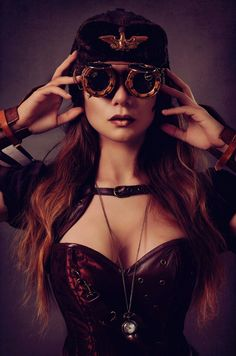 Safari Steampunk Anyone? Steampunk is a rapidly growing subculture of science fiction and fashion. Steampunk Cosplay, Steampunk Mode, Chat Steampunk, Style Steampunk, Victorian Steampunk, Steampunk Clothing, Steampunk Fashion, Steampunk Design, Steampunk Makeup