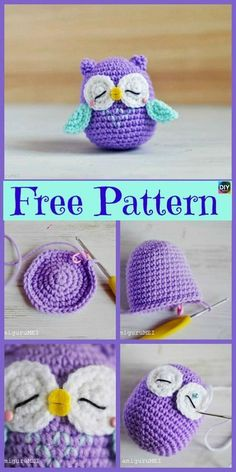 12 Cutest Crochet Amigurumi Owl Free Patterns - DIY 4 EVER Everyone loves owls, and they are one of our favorite animals! So why not learn how to make a adorable Crochet Amigurumi Owl for your child ? Cute Crochet, Crochet Crafts, Crochet Baby, Crochet Projects, Knit Crochet, Diy Projects, Crochet Tutorials, Chrochet, Crochet Amigurumi Free Patterns