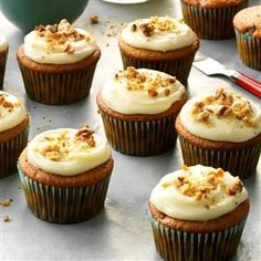 Pumpkin Spice Cupcakes Recipe -I make these flavorful pumpkin cupcakes each Halloween, but they're wonderful year-round. —Amber Butzer, Gladstone, Oregon