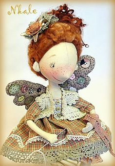 Doll Drawing, Paper Clay, Tooth Fairy, Soft Sculpture, Fabric Dolls, Doll Patterns, Beautiful Dolls, Puppets, Art Dolls