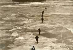 This day in St. Louis: February 6, 1936 - The Mississippi River freezes over during one of the coldest winters in St. Louis history, prompting people to walk across it despite a warning from the Army Corps of Engineers against such actions. via stltoday.com
