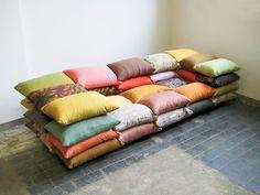 Kanapa z poduszek Christiane Hoegner