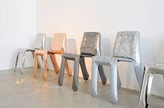 Limited Edition chairs: Plopp Copper by Oscar Zieta Trendy Furniture, Metal Furniture, Luxury Furniture, Cool Furniture, Furniture Ideas, Contemporary Furniture, Contemporary Design, Lounge, Take A Seat