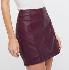 5ce8a24b3d Free People Modern Femme Vegan Mini Berry. Suede Mini Skirt, Leather ...