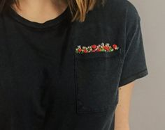 Pocketful of Flowers Embroidered Tee