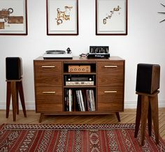 "Bursting with mid-century style, the Atocha Design Open/Close Series looks like it just came off the set of ""Mad Men,"" but it's been thoughtfully created for the modern music lover of today."