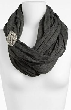 Strange & Charmed Magazine: Quirky Style: Scarves with Brooches