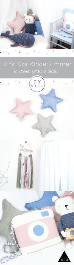 DIYs in Pastelltönen Nähen für ein zauberhaftes Kinderzimmer - Die Anleitungen/ Schnittmuster/ Ebooks findet Ihr im Shop