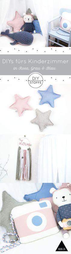 Zauberhaufte DIY-Näh Ideen fürs Kinderzimmer in Rosa & Blautönen - Anleitungen & Schnittmuster  - Ebooks/Freebooks bei diy-stoffe.de