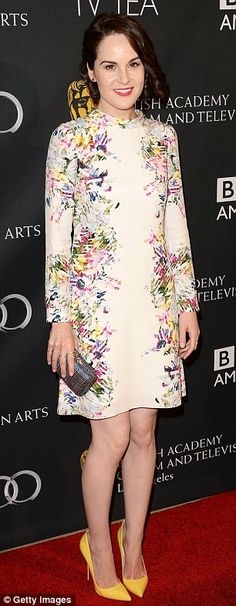 Dressed to the nines: Downtown Abbey's Michelle Dockery was stunning