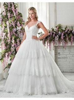 Bonny A-linie Traumhaftes Brautkleid 2016 Kollektion- Style 608