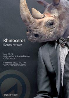 Rhinoceros by Ionesco - poster