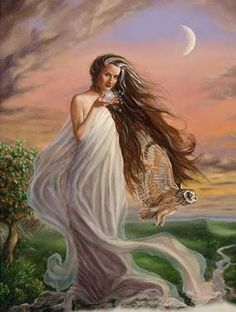 Goddess Arianrhod- Goddess of the Silver Wheel (full moon), fate, the turning of the wheel/year.