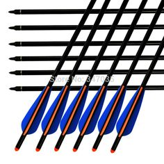 17 inch Crossbow Bolts Aluminum Arrows 2216# Moon Nock for Archery Target Hunting Outdoor Sports