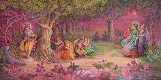 Lord Krishna with Gopis Arte Krishna, Krishna Leela, Radha Krishna Photo, Krishna Photos, Krishna Images, Lord Krishna, Lord Shiva, Radhe Krishna Wallpapers, Krishna Painting