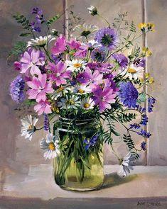 Мобильный LiveInternet Есть, есть душа у каждого цветка... Художница Anne Cotterill. Часть 1. | blu_Marino - Дневник blu Marino |: