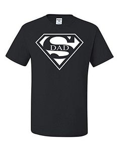 Super Dad Funny T-Shirt Father's Day Birthday Gift For Dad Husband Super Hero XL Black