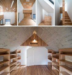 concrete ceiling #concrete; attic room