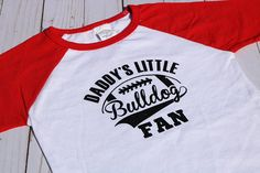 Georgia Bulldogs Shirt Toddler Raglan T-shirt