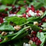 Pomegranate & Spinach Salad