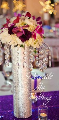 Bridal Bouquet Crystal Centerpiece - A wonderful way to make use of your bridal bouquets after the ceremony.