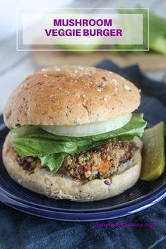 Mushroom Veggie Burger, Homemade Veggie Burgers, Quick Dinner Recipes, Clean Eating Recipes, Cooking Recipes, Wrap Recipes, Eating Healthy, Delicious Recipes, Vegetarian Appetizers