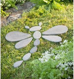 Decorative Stones Dragonfly Garden Accent in Garden Sculptures