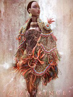 Chu cumin u are my quest of honor. African Dolls, African American Dolls, Fashion Royalty Dolls, Fashion Dolls, Muñeca Diy, Diva Dolls, Dolls Dolls, Beautiful Barbie Dolls, Living Dolls