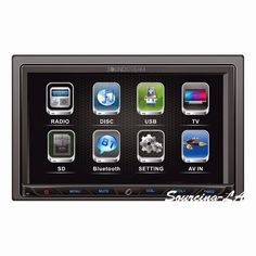 "Sourcing-LA: SOUNDSTREAM VR-764B 7"" TOUCHSCREEN DVD RECEIVER WI..."