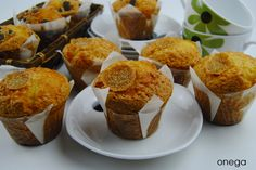 Magdalenas de naranja y limón Cupcakes, Snack, Muffins, Baking, Breakfast, Brownies, Gastronomia, Cakes, Orange Cupcakes
