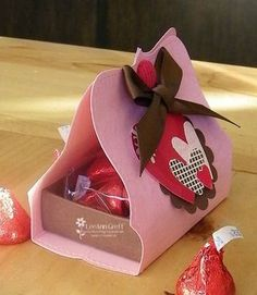 Top Note valentine box wrap.  This could also be used for any holiday or party theme by changing the hearts out to match the occasion...ex: Xmas trees, Easter eggs, birthday gift box, etc.