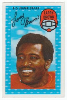 1971 Kellogg's Cereal 3-D Football Cards #13 Larry Brown NM/M