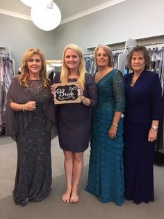 Both mothers , the grandmother AND the bride found a dress! Jessica(the bride) is having her wedding in Galveston at Central Christian Church with the reception at Historic Garten Verein.- Gorgeous generation photo! #ilovemydress #tcarolyn #tcdressedme #motherofthebridedress  #eveningdress #eveninggown #motherofthegroomdress #rehersaldress #grandmotherofthebridedress