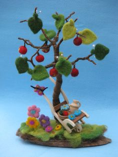 Needle felted seasonal tree van Made4uByMagic op Etsy