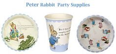 #Peter #Rabbit #Party #Supplies. Visit this page for ideas how to throw a Peter Rabbit Baby Shower.
