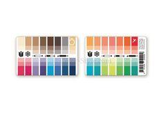 Karten-Farbpass Frühling-Winter mit 30 Farben