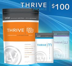 THRIVE Upgrade Package Men or Women. The pack Includes 60 capsules and 16 Shake Mix's.  One of the fastest Health and Lifestyle companies in the world. I have been taking this product know for awhile and my energy level is through the roof. I feel you a youthful again.  SteveSweet.Le-Vel.com.