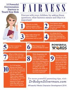 10 Powerful Conversation Starters to Teach Your Kids Fairness. Raising kids in the digital age, helping your teens be fair, teaching fairness in kids, developing fairness in youth Kids And Parenting, Parenting Hacks, Peaceful Parenting, Gentle Parenting, Teaching Kids, Kids Learning, Life Skills, Life Lessons, Karate Classes