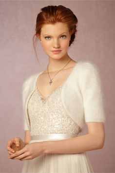winter bridal cover up | Vivi Bolero from BHLDN