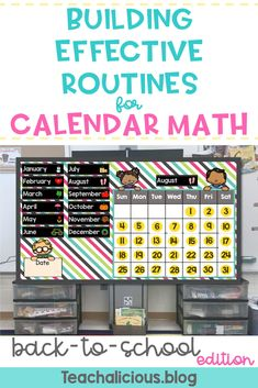 Need Back to School Ideas for implementing Digital Calendar Math? Checkout this blog for ideas, routines and everyday interactive math activities for Kindergarten, First Grade and 2nd grade.