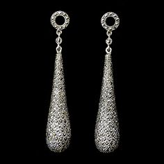Marcasite Classical Deco Drop Earrings