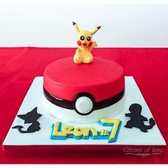Pokeball Birthday Cake #pokemon #pokemongo #cake #cakedesign #cakedecoration #cakedecorating #cakedesign #gateauxoflove