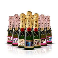 Personalised gift bottles of Moët 25cl