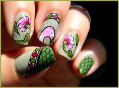 Baurorenailflamingo #nail #nails #nailart