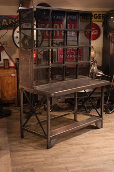 Whalen industrial metal wood workbench costco for Deco meuble furniture richibucto