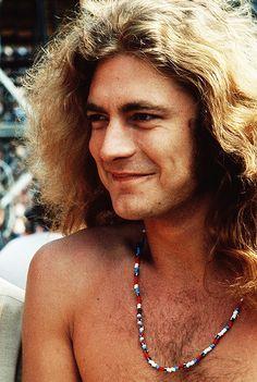 Robert Plant backstage at the Kezar Stadium in San Francisco, 1973.