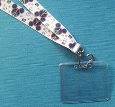 Disney KTTW Card Holder/Lanyard - Peace Sign Mickey Mouse - Non-scratchy - Child or Adult